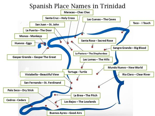 Spanish places in  Trinidad