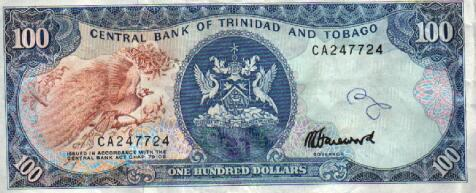 Image result for hundred dollar note trinidad
